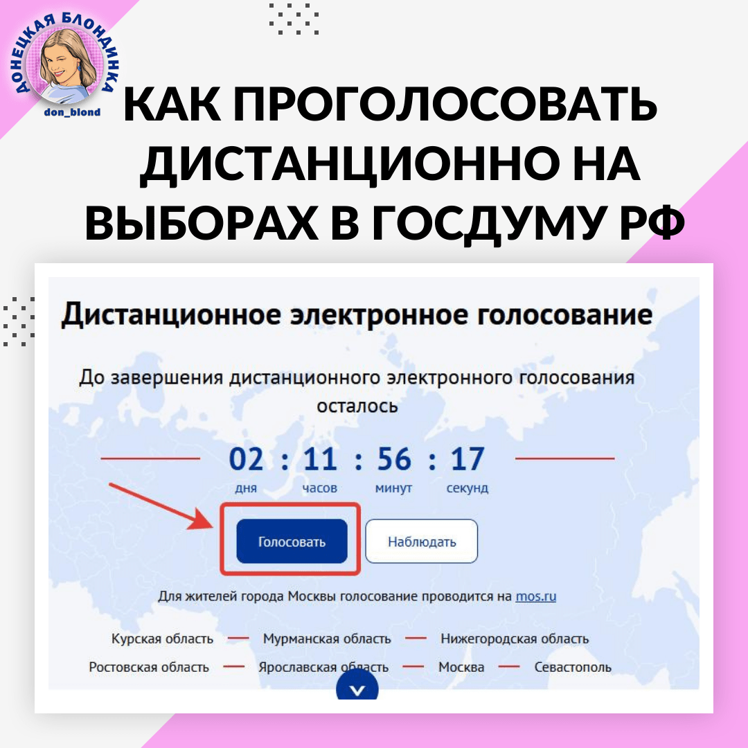 Как проголосовать дистанционно на выборах в Государственную Думу РФ